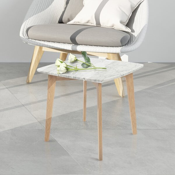 Herlinda Square Marble End Table By Ivy Bronx