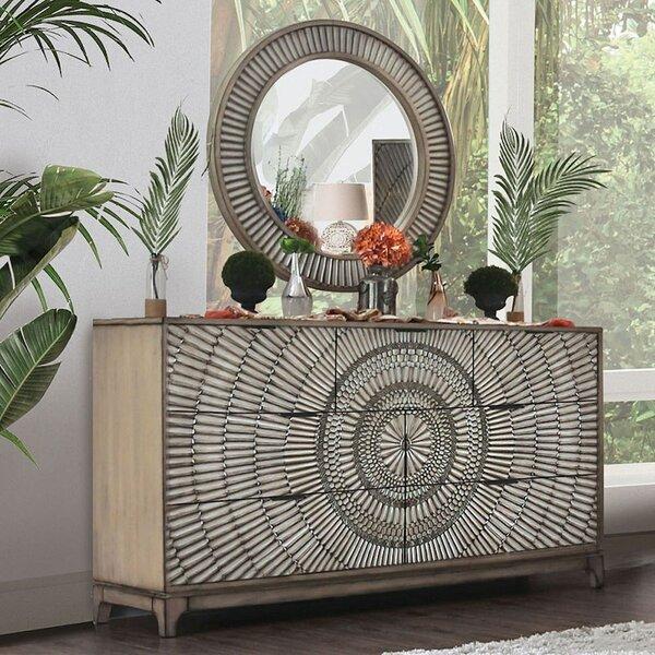 Rhianna 7 Drawer Dresser with Mirror by Bay Isle Home
