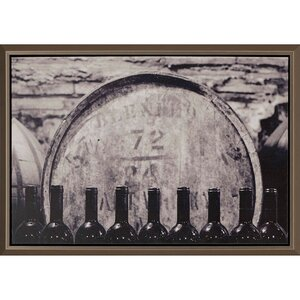 Wine Barrel by Groton Framed Photographic Print by Paragon