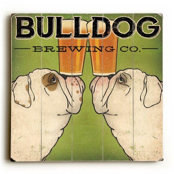 Bulldog Brewing Textual Art by Red Barrel Studio