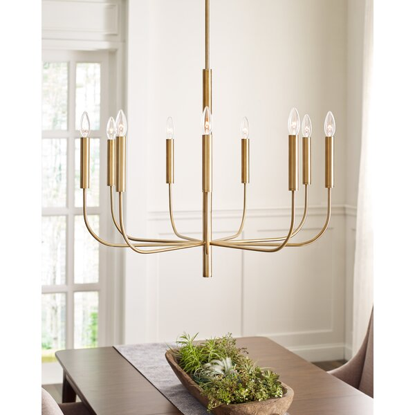 Brianna 6 - Light Candle Style Classic / Traditional Chandelier by ED Ellen DeGeneres crafted by Generation Lighting ED Ellen DeGeneres crafted by Generation Lighting
