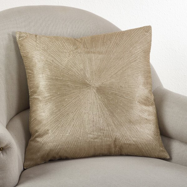 Shimmering Starburst Cotton Throw Pillow by Saro