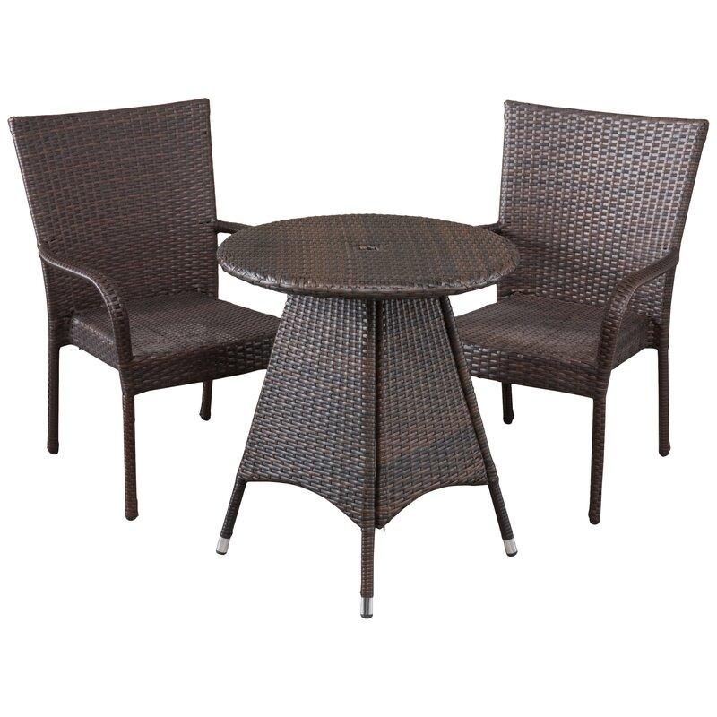 bistro chair glides modern contemporary patio bistro sets youll love wayfair