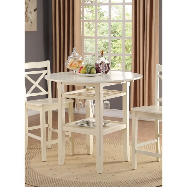 Burroughs Counter Height Drop Leaf Dining Table by Highland Dunes