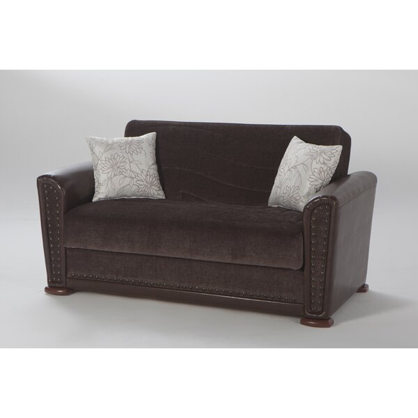 Harlee Brown Love Seat by Brayden Studio