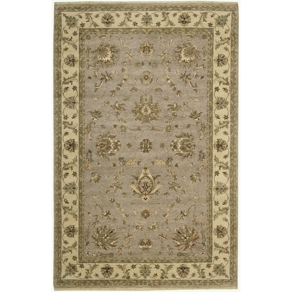 Degory Hand-Knotted Gray Area Rug by Darby Home Co
