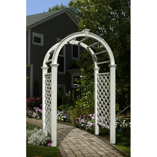 Livingston Vinyl Arbor by New England Arbors