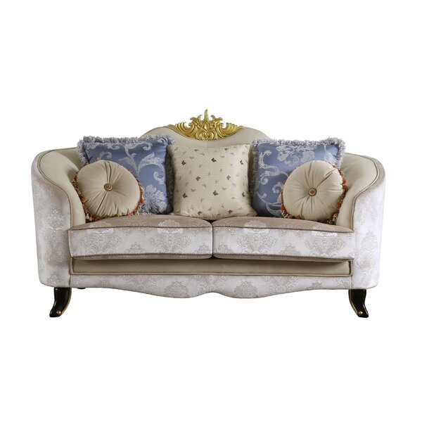 Quane Loveseat w/5 Pillows by Rosdorf Park