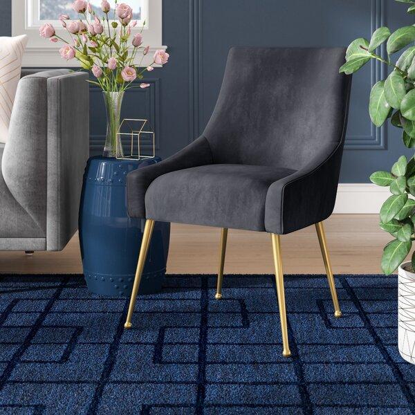 Dusek Velvet Upholstered Side Chair By Brayden Studio