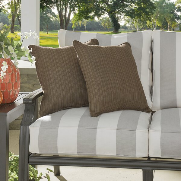 Baskerville Outdoor Sunbrella Throw Pillow (Set of 2) by Darby Home Co