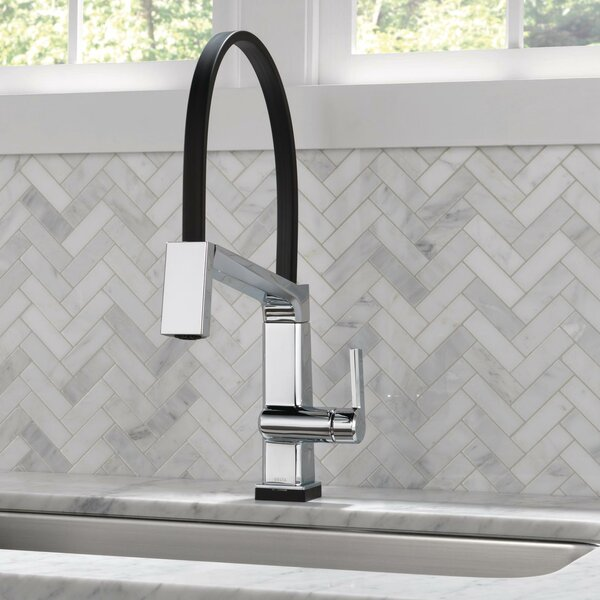 Pivotal Touch Single Handle Kitchen Faucet with Touch20 Technology by Delta
