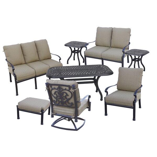 Batista 8 Piece Sofa Set with Cushions by Fleur De Lis Living