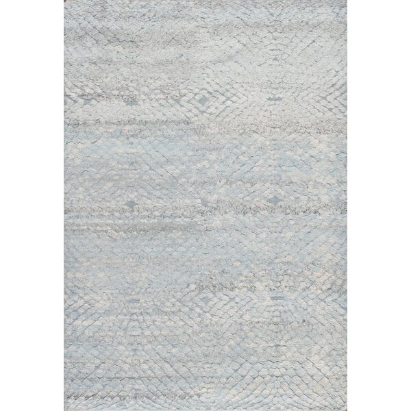 Vogue Hand-Knotted Wool Light Blue Area Rug by Pasargad