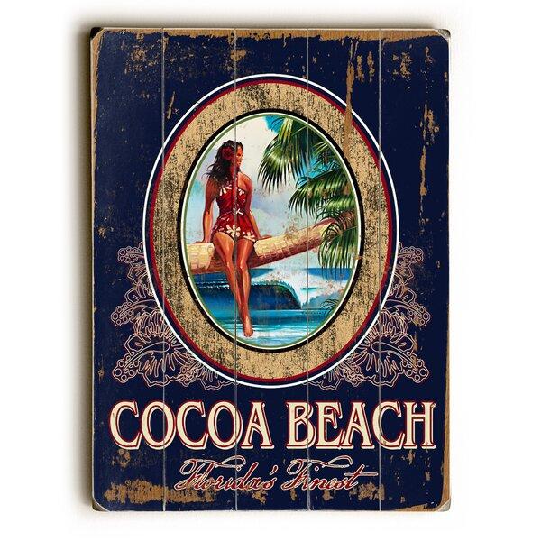 Cocoa Beach Vintage Advertisement by Artehouse LLC