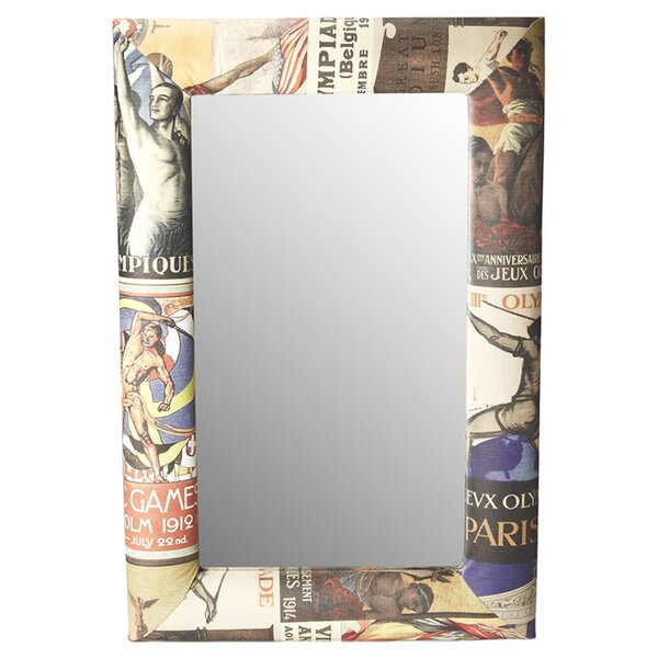 Kennon Olympus Upholstered Wall Mirror by Winston Porter