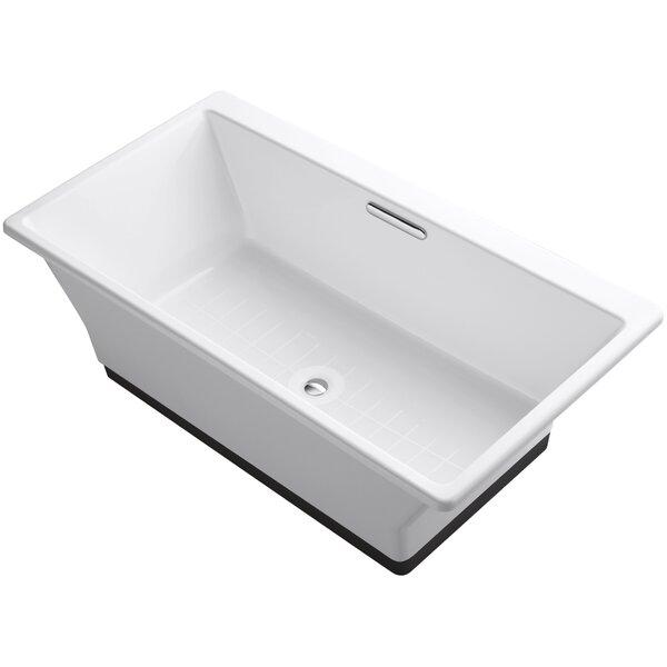 Reve 67 x 36 Freestanding Bathtub with Brilliant Ash Base by Kohler