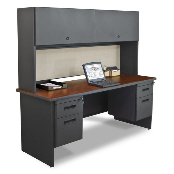 Pronto 4 Drawers and Door Computer Desk with Hutch by Marvel Office Furniture
