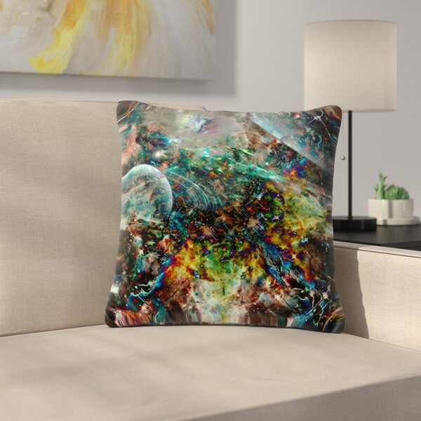 Shirlei Patricia Muniz Space Abstract Outdoor Throw Pillow by East Urban Home