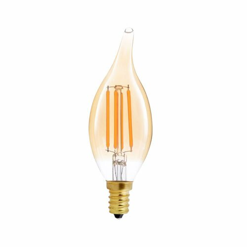 40W Equivalent Amber E12 LED Candle Edison Light Bulb (Set of 12) by TriGlow