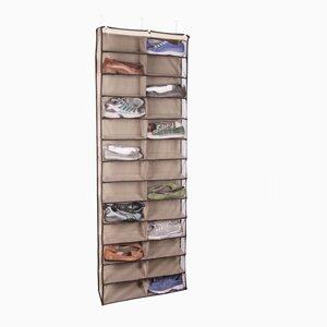 Gearbox StorageCaddy 26 Pair Overdoor Shoe Organizer by Richards Homewares