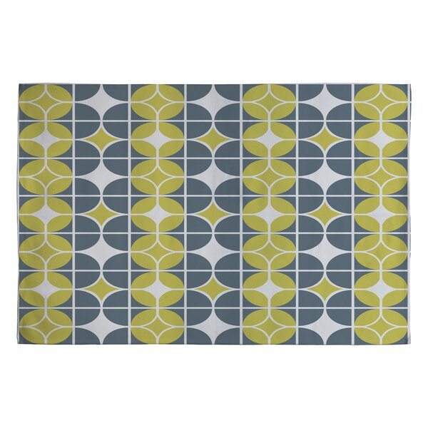 Heather Dutton Othello Gold/Yellow Geometric Area Rug by Deny Designs