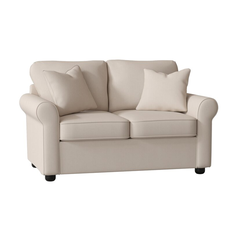 "Manning Cotton 60"" Rolled Arm Loveseat"