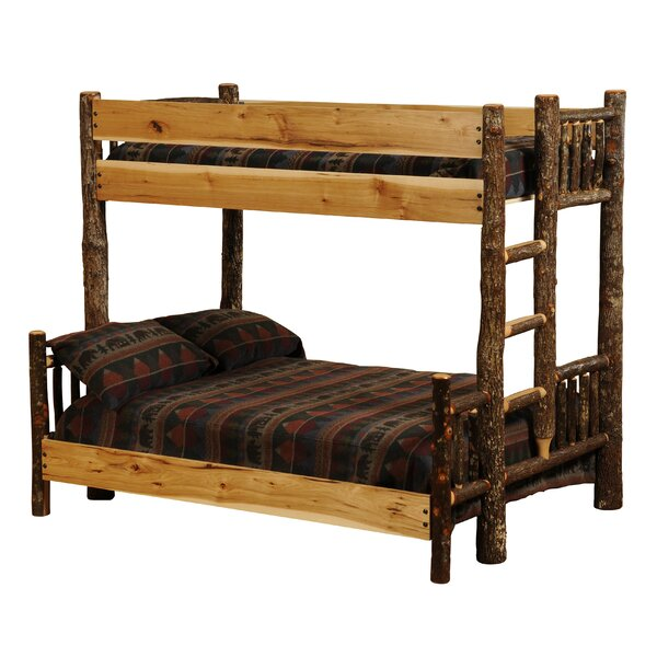Hickory Twin over Queen Bunk Bed by Fireside Lodge