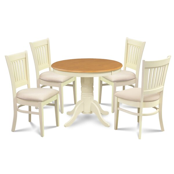Cedarville Elegant 5 Piece Solid Wood Dining Set by Alcott Hill Alcott Hill
