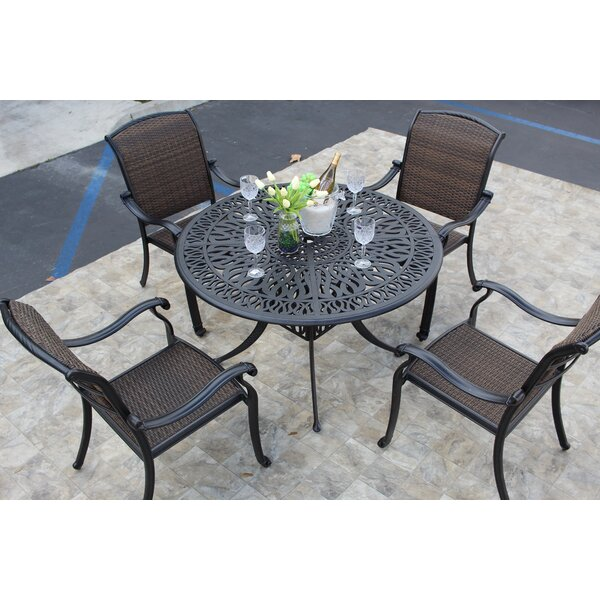 Loftus 5 Piece Dining Set by Darby Home Co