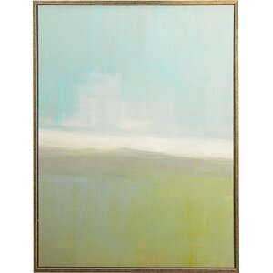 'Coastal Abstract Canvas' Framed on Canvas by Wade Logan