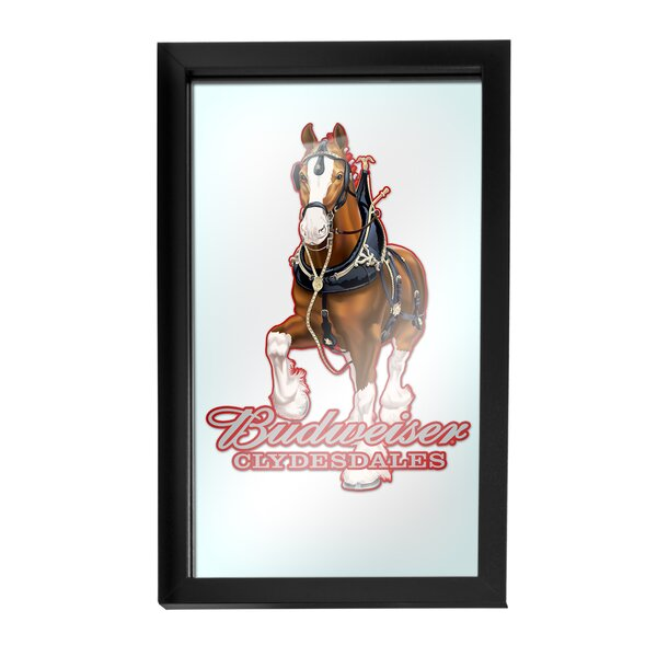 Budweiser Clydesdale Framed Logo Accent Mirror by Trademark Global