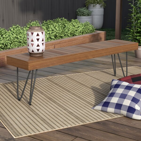 Outdoor Wooden Picnic Bench by Union Rustic Union Rustic