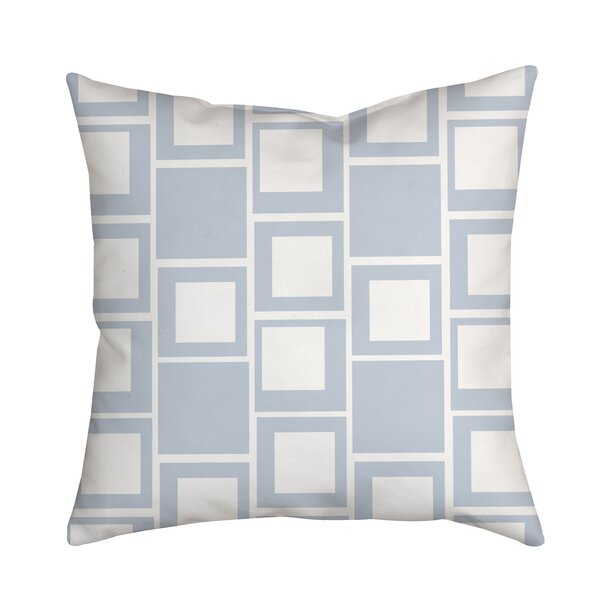 Square Up Geometric Throw Pillow by Positively Home