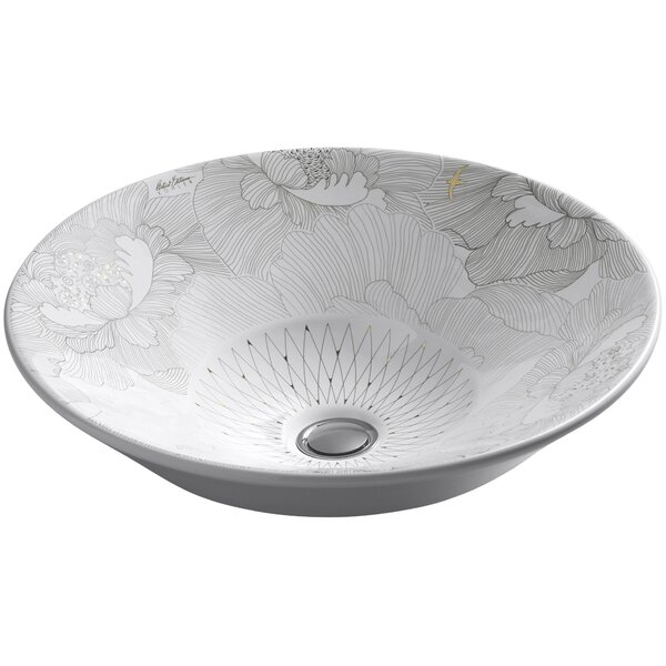 Empress Bouquet Ceramic Circular Vessel Bathroom Sink by Kohler