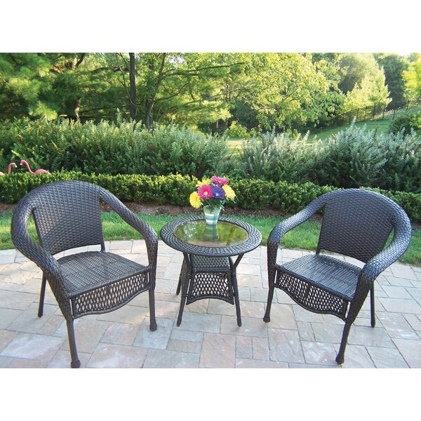 Kingsmill 3 Piece Conversation Set by Rosecliff Heights
