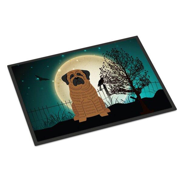 Halloween Scary Mastiff Doormat by Caroline's Treasures