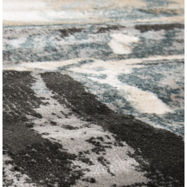 Artfully Abstract Gray/Beige Area Rug by Plymouth Home