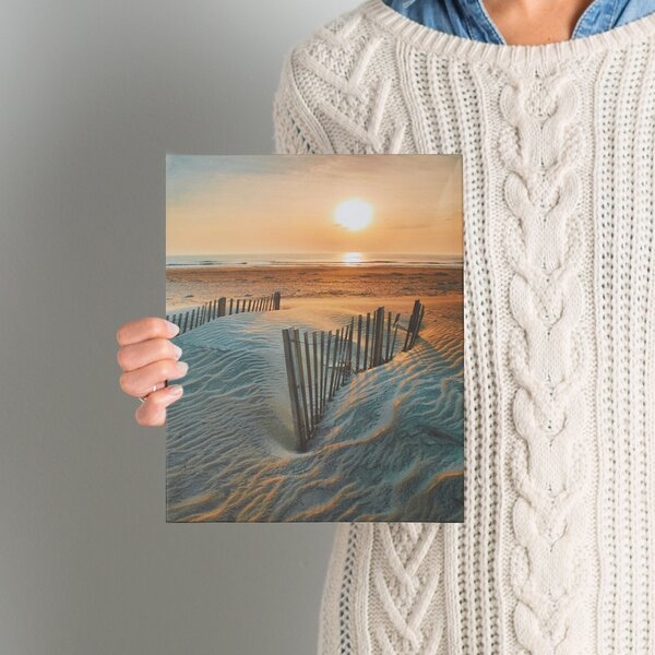 Sunrise Over Hatteras by Steve Ainsworth Photo Graphic Print on Canvas by Beachcrest Home