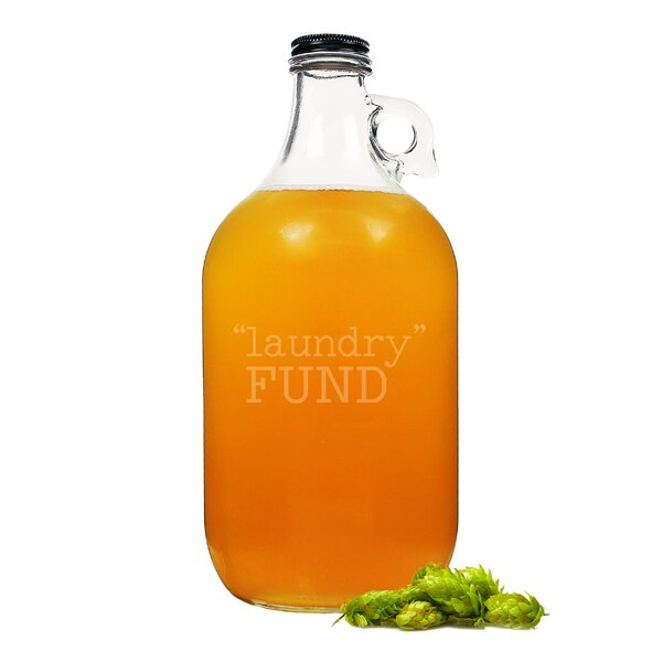 Laundry Fund Glass 64 oz. Growler by Cathys Concepts