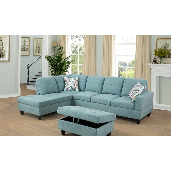 Gennep Sectional with Ottoman by Latitude Run Latitude Run