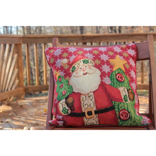 Santa Claus is Coming to Town Throw Pillow Cushion Cover (Set of 2) by Tache Home Fashion
