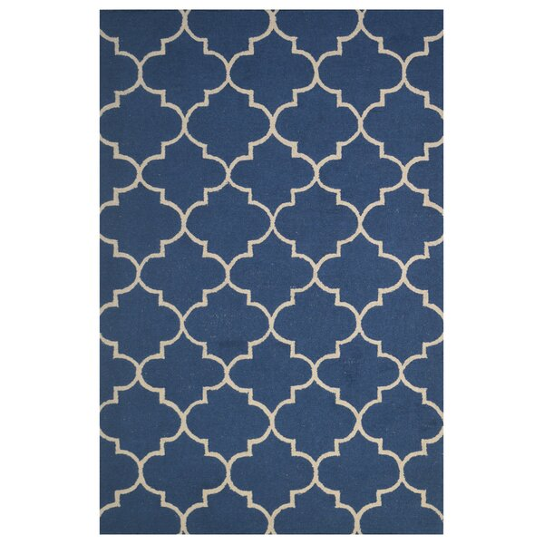 Wool Hand-Tufted Navy Blue Area Rug by Eastern Weavers