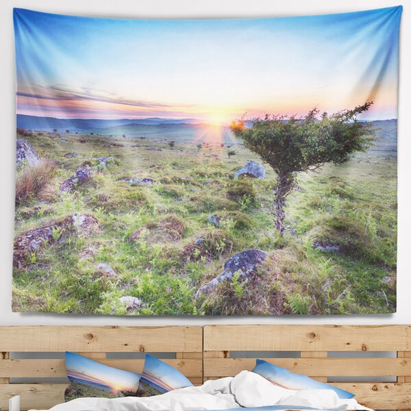 Landscape Sunset on Bodmin Moor Tapestry and Wall Hanging by East Urban Home