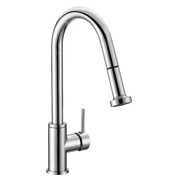 Enchant Pull Down Single Handle Kitchen Faucet by Safavieh