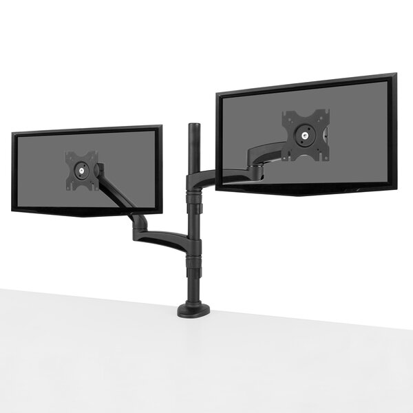 Dual-Monitor Articulating Arm Desktop Mount for 13-27 Flat Panel Screen by Kanto