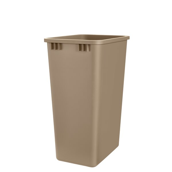 Plastic 12.5 Gallon Trash Can by Rev-A-Shelf