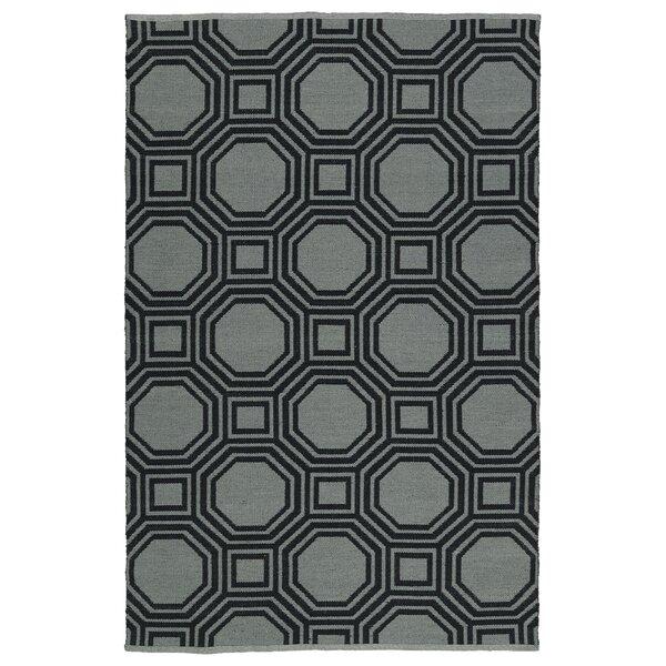 Littleton Gray/Black Indoor/Outdoor Area Rug by Wrought Studio