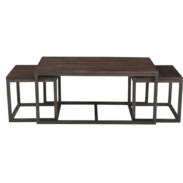 Clare Nesting 3 Piece Coffee Table Set by 17 Stories