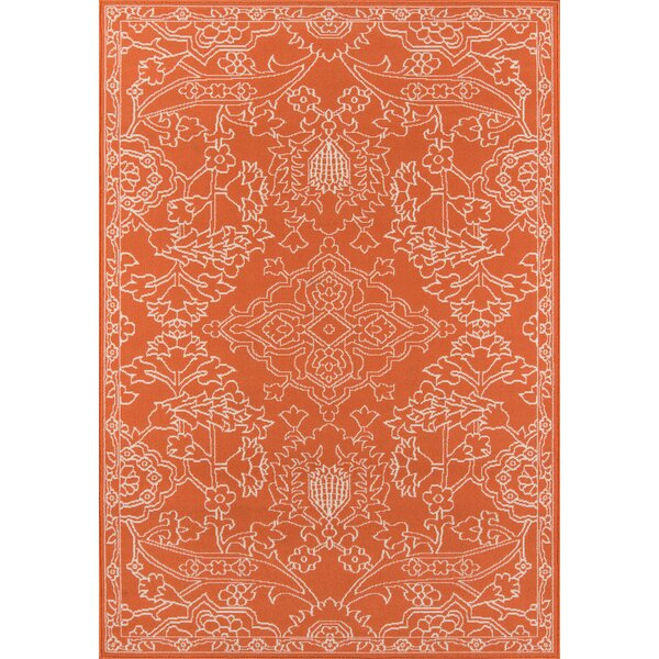Craine Orange Indoor/Outdoor Area Rug by Charlton Home