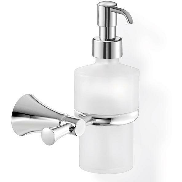Hewes Wall Frosted Glass Pump Soap & Lotion Dispenser by Mercer41